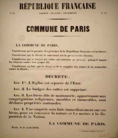 comune di parigi decreto 3 aprile