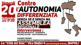 assemblea regionale no autonomia differenziata