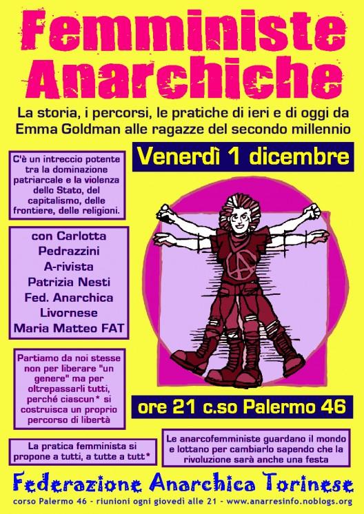 femministe anarchiche a Torino