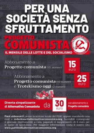 progetto comunista copertina