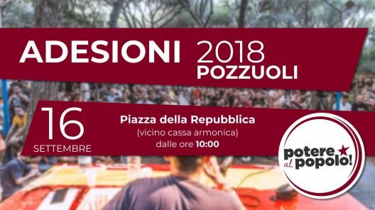 pozzuoli, 16 settembre, adesioni in piazza