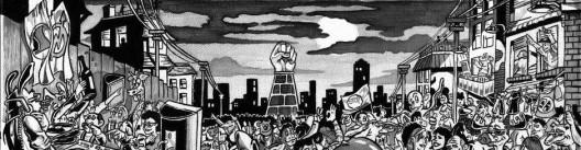 mobilitazione del sud a Napoli