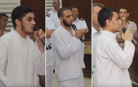 tre giovani egiziani