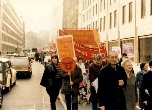 sciopero dei minatori: marcia a londra