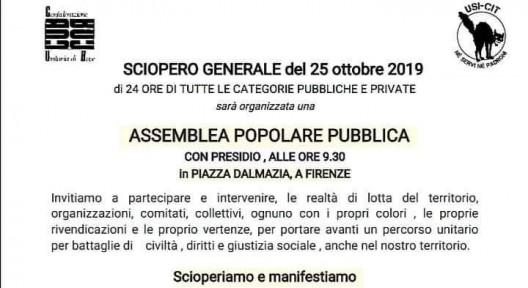 scioperiamo il 25 ottobre - firenze