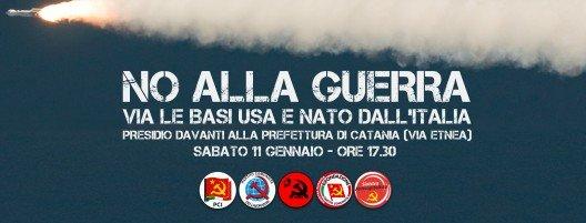 no alla guerra, catania 11 gennaio