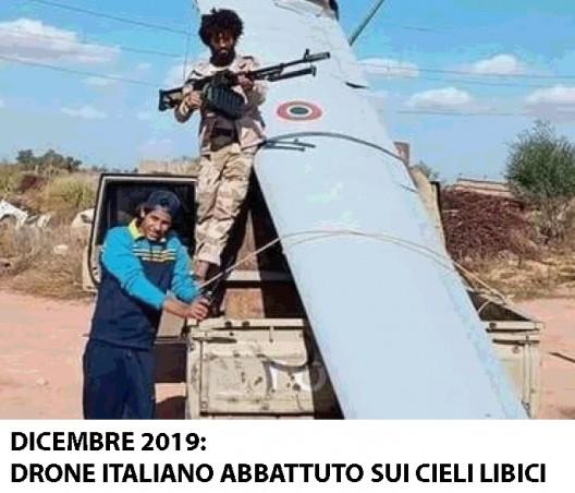 drone italiano abbattuto