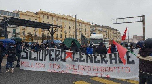 uno sciopero generale a Napoli