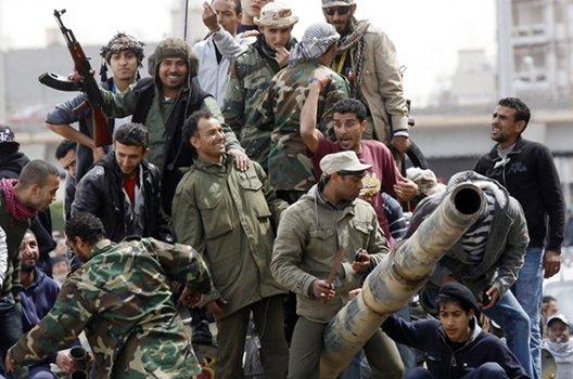 miliziani anti gheddafi