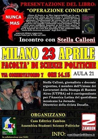 Stella Calloni in Italia