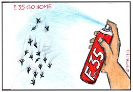 F35 go home